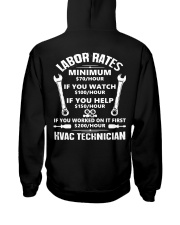HVAC TECH RATE Hooded Sweatshirt back