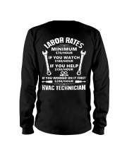 HVAC TECH RATE Long Sleeve Tee thumbnail