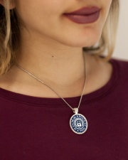 this girl protected by a viking Metallic Circle Necklace aos-necklace-circle-metallic-lifestyle-1