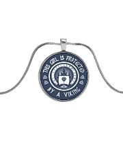 this girl protected by a viking Metallic Circle Necklace front