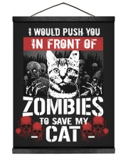 My Cat And Zombies 16x20 Black Hanging Canvas thumbnail