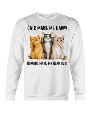 CATS MAKE ME HAPPY Crewneck Sweatshirt thumbnail