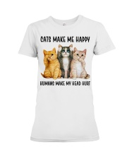 CATS MAKE ME HAPPY Premium Fit Ladies Tee thumbnail
