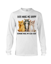 CATS MAKE ME HAPPY Long Sleeve Tee thumbnail