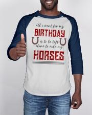 Birthday Horse for Cowboys and Cowgirls Baseball Tee apparel-baseball-tee-lifestyle-08
