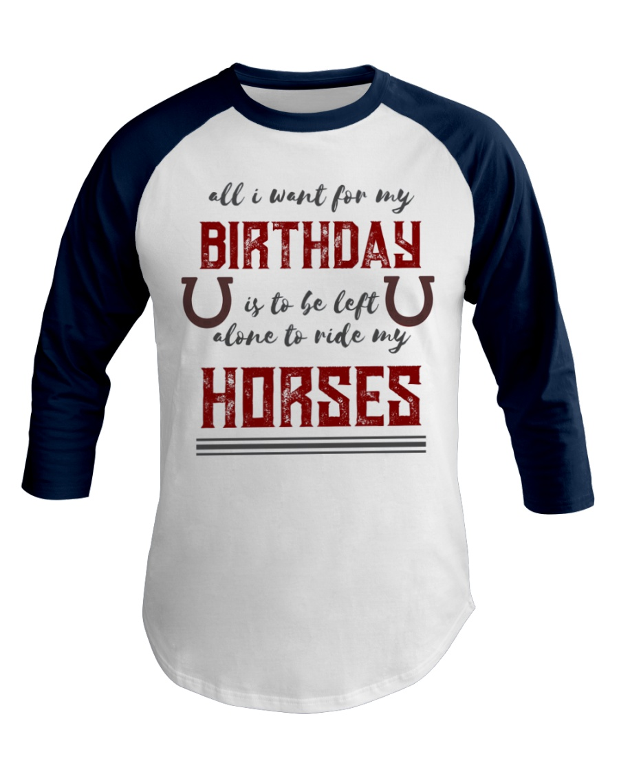 Birthday Horse for Cowboys and Cowgirls Baseball Tee