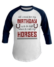 Birthday Horse for Cowboys and Cowgirls Baseball Tee front