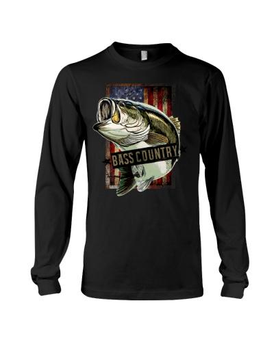 Bass Country Largemouth Bass Fishing T-Shirt