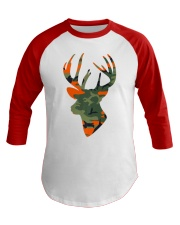 Deer Head Country Buck Fashion Hunting Gift Baseball Tee front