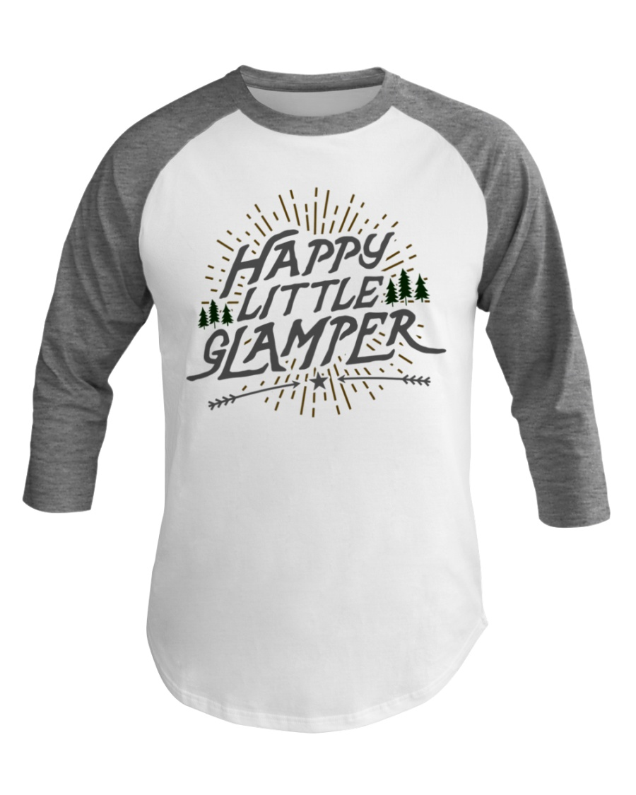 Happy Little Glamper - Funny Summer Vacation Baseball Tee