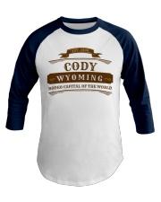 Cody Wyoming Shirt WY Rodeo Cowboy Premium Baseball Tee front