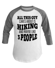 Funny Hiking Outdoor Baseball Tee front