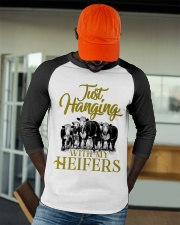Just hanging with my heifers new design cattle Baseball Tee apparel-baseball-tee-lifestyle-09