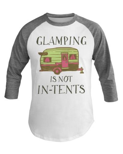 Funny Glamping Baseball Tee Happy Camping
