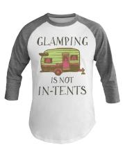 Funny Glamping Baseball Tee Happy Camping Baseball Tee front