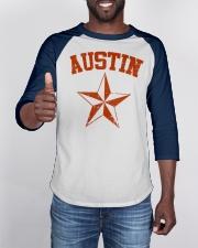 Austin TX Texas Cowboy Star Vintage Style Baseball Tee apparel-baseball-tee-lifestyle-08