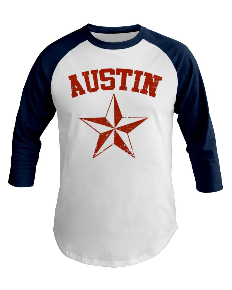 Austin TX Texas Cowboy Star Vintage Style Baseball Tee