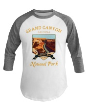 Grand Canyon National Park Baseball Tee Hiking Baseball Tee front