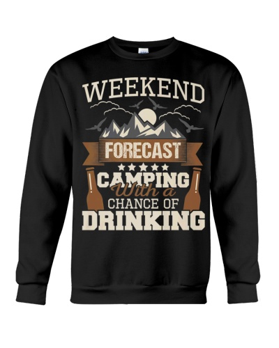 Camping Drinking Weekend Forecast Funny