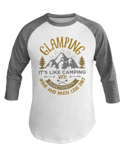 Glamping Definition Baseball Tee Glamper Women