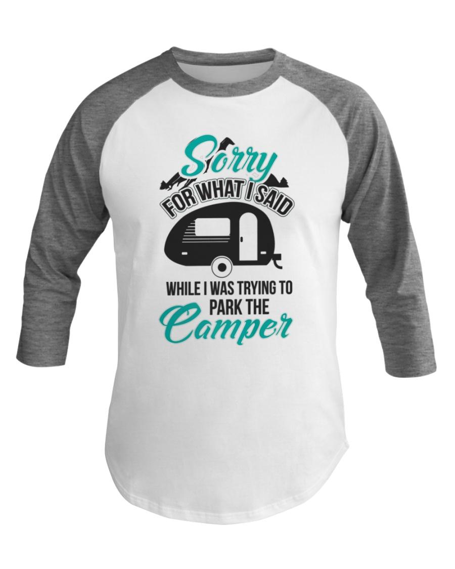 Funny Park the Camper RV Camping Baseball Tee