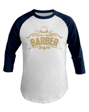 Cowboy Barber with Cowboy Hat Baseball Tee front