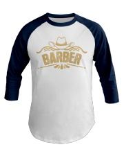 Cowboy Barber with Cowboy Hat Baseball Tee front