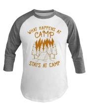 Fun Camping Baseball Tee What Happens At Camp Baseball Tee front