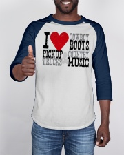 I Love Cowboy Boots Pick Up Truck Country Music Baseball Tee apparel-baseball-tee-lifestyle-08