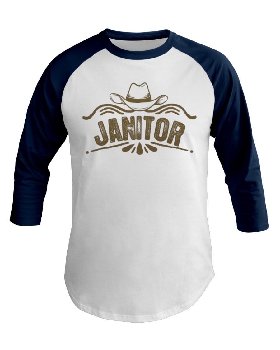 Cowboy Janitor with Cowboy Hat Baseball Tee