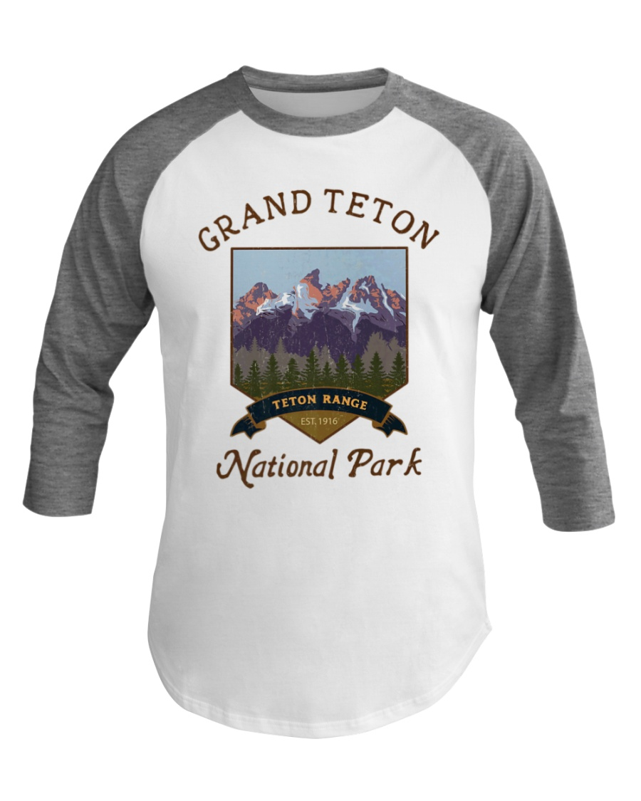 Grand Teton National Park Baseball Tee Hiking Baseball Tee