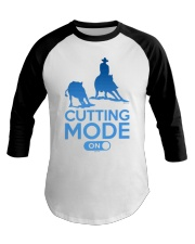 Cutting Horse Cutting Mode On Baseball Tee front