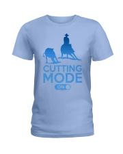 Cutting Horse Cutting Mode On Ladies T-Shirt thumbnail