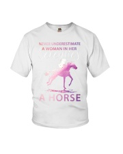 A Woman in her Seventies Who Can Ride Horse Youth T-Shirt thumbnail