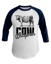 Cow Whisperer Love Cows Cowboy Cowgirl Baseball Tee front