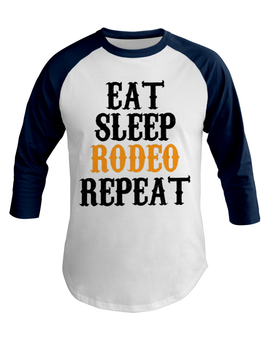 Bull Riding Western Rodeo Cowboy Rider Baseball Tee