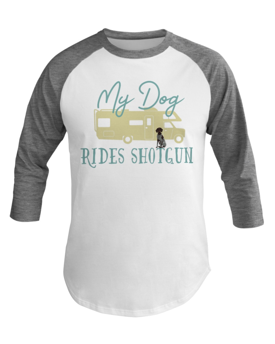German Shorthaired Pointer Dog RV Funny Camping Baseball Tee