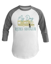 German Shorthaired Pointer Dog RV Funny Camping Baseball Tee front
