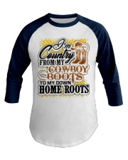 Country from Cowboy Boots To Roots Cowboys Gift Baseball Tee front