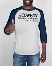 A-Cowboy-is-a-Man-WIth-Guts-and-a-Horse-Western Baseball Tee apparel-baseball-tee-lifestyle-08