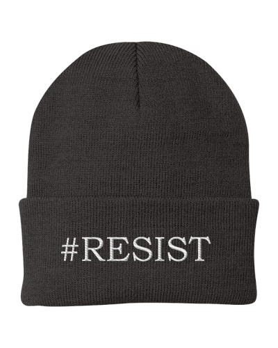 Resist Hashtag Embroidery
