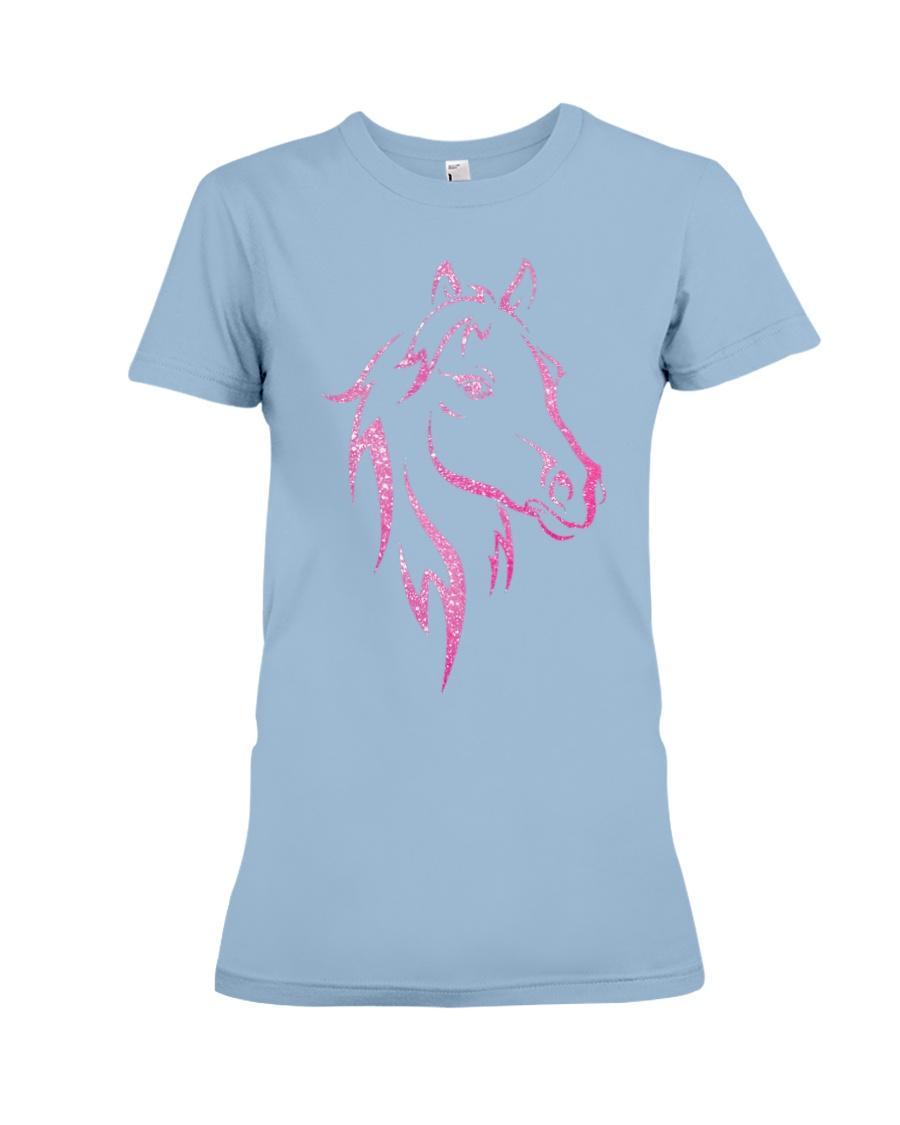 Equestrian Horse for Kids Children Funny Premium Fit Ladies Tee
