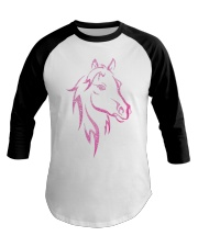 Equestrian Horse for Kids Children Funny Baseball Tee thumbnail
