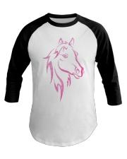 Equestrian Horse for Kids Children Funny Baseball Tee front