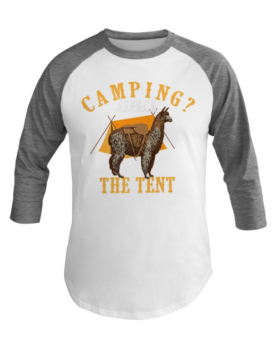 Camping Alpaca The Tent Cute Llamas Camp Gift Baseball Tee