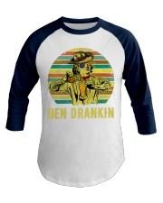 Benjamin Franklin Ben Drankin cowboy hat Beer Baseball Tee front