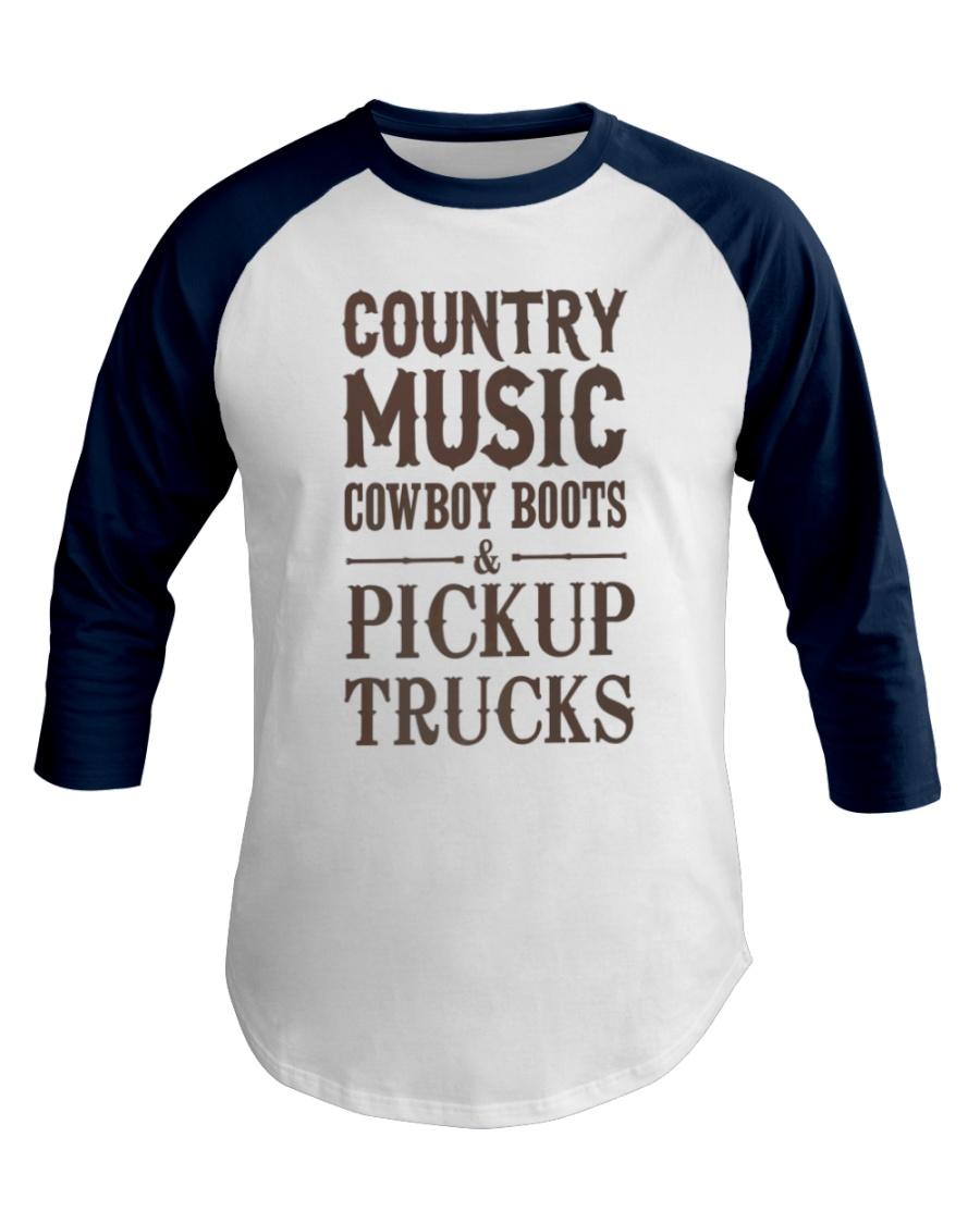 Country Music Cowboy Boots Pickup Trucks Baseball Tee
