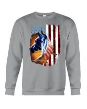 American Flag Horse Shirt 4th Of July Day Crewneck Sweatshirt thumbnail