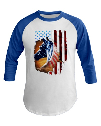 American Flag Horse Shirt 4th Of July Day