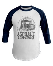 Asphalt Cowboy Truck Driver Gift Premium Baseball Tee front